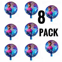 8pcs Frozen 18'' Foil Birthday Party Balloons Party Decor Supplies FREE SHIPPING