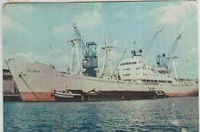 POLISH MERCHANT SHIP MS Oliwa Cancel from MS Lilla Weneda Colour PC 1963