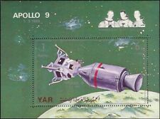 Yemen 1969 Apollo 9/Capsule/Astronauts/Space/Moon/People/Rockets 1v m/s (s4003g)