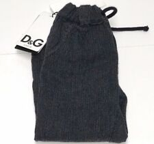 D&G NEW Boys Baby COTTON DRAWSTRING DRESS PANTS w/ logo Sz: 6-9m RTL: $160 P351