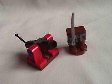 Lego Pirata cañón y armas rack con machete Espada