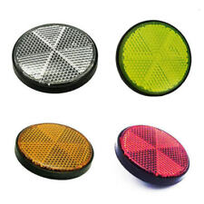 4pcs Bicycle Round Reflector Safety Night Cycling Reflective Bike Accessories US