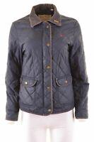JACK WILLS Womens Quilted Jacket UK 12 Medium Blue Polyester  V002
