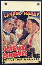Laurel & Hardy THE HAPPY COMRADES Belgium 14 x 22 Movie Poster