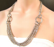Halskette Metall in silber Farbe /// Necklace