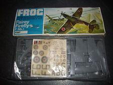 FROG  FAIREY FIREFLY F MK.1  PLASTIC MODEL 1/72 VINTAGE REF F257