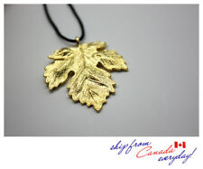 S925 Sterling Silver Maple Leaf Unisex 18K GP Necklace/Can be Couple's Jewelry