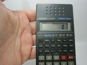 Vintage CASIO FX-82SX Scientific Fraction Calculator In Case