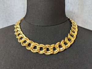 Beautiful Vintage Cold-tone Open Link Necklace from Monet Jewellery.