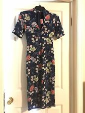 NWOT Pinup Girl Clothing Pinup Couture Elizabeth dress Small spiderweb Floral
