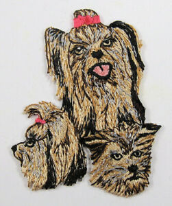 Yorkshire Terrier dog heat seal embroidered badge
