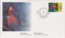 (LH6) 1996 Canada FDI 45c AIDS