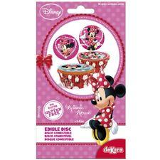 DISCHI di qualità Commestibili Zucchero Torta Cupcake Decorazioni-Minnie Mouse x16