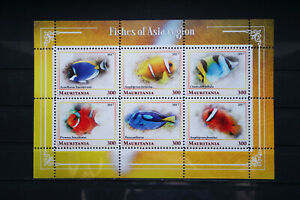 Fische 47 1 fishes Poissons Meerestiere sea animals Asien Fauna perforiert MNH