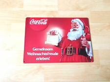 """Coca-Cola Blechschild """"Gemeinsam Weihnachtsfreude erleben!"""