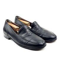 Cole Haan Bragano Black Leather Italian Venetian Split Toe Apron Loafers Sz 12 M