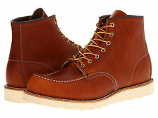 RED WING ORO LEGACY LEATHER CLASSIC MOC LACE UP MEN'S BOOTS 875 BROWN