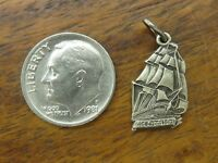 Vintages sterling silver U.S.S. CONSTITUTION SHIP OLD IRONSIDE SOUVENIR charm
