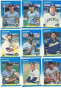 1987 Fleer Milwaukee Brewers Complete Team Set! Robin Yount Paul Molitor ++