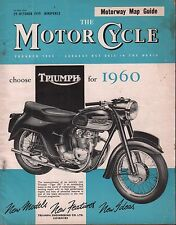 The Motor Cycle October 29 1959 Triumph Tiger 100, Motorway Map Guide 071717DBE