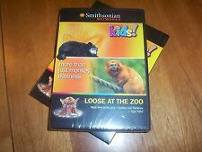 KIDS! LOOSE AT THE ZOO Baby Animals Tigers Monkey Smithsonian Networks DVD NEW