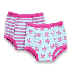 New 2 Pk Green Sprouts Girl's 2T 24M Washable Potty Training Pants Underwear