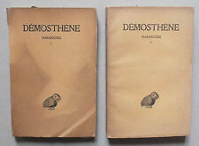 DEMOSTHENE - HARANGUES - TOMES 1 & 2 - LES BELLES LETTRES - 1939 & 1925 *