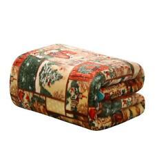 Ultra Plush Merry Christmas Country Winter Barn Fleece Throw Blanket Cover