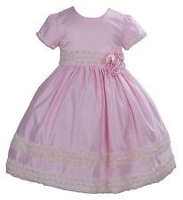 90aaec094 Vestidos de niña de 2 a 16 años rosas de satén   Compra online en eBay