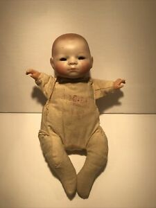 """Vintage Grace S Putnam 8"""" Bisque Bye Lo Baby As Is"""