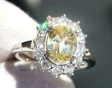 Sapphire Gold Ring Diamond Natural NO HEAT Yellow 4.01CTW GIA Cert RETAIL $11700