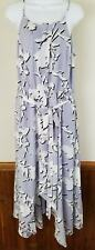 Lane Bryant Maxi Summer Dress Cinched Waist Light Lavender Sleeveless 16