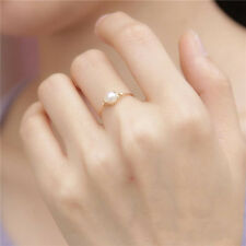 gold wire wrapped freshwater pearl ring bridesmaid finger ring custom made ring