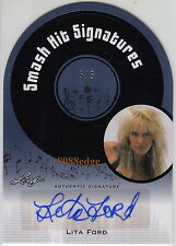 "2011 POP CENTURY SMASH HIT AUTO: LITA FORD #5/5 DIE-CUT AUTOGRAPH ""THE RUNAWAYS"""