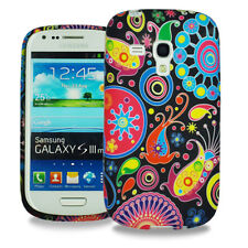 Vintage Floral Silicone Gel TPU Back Case Cover for Samsung Galaxy S3 Mini i8190
