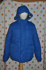 AEROPOSTALE MEN'S small  BLUE  PUFFER  WINTER CAR  COAT with  HOOD NEW