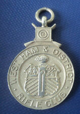 Silver Rifle Shooting Fob Medal  1936 / 1936 - West Ham & District Rifle Club
