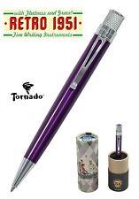Retro 51 #VRR-1317 / Lacquered Purple Tornado Roller Ball Pen