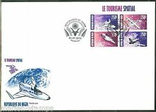 Niger 2013 Space Tourism Sheet Of Four First Day Cover