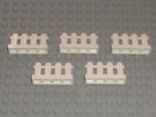 Lot de 5 barrieres LEGO ref 33303 / FENCE / 4886 10196 5477 4120 4999 4121 ...