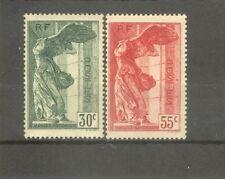 "FRANCE STAMP TIMBRE N° 354/55 ""VICTOIRE SAMOTHRACE DU LOUVRE 1937"" NEUFS xx TTB"