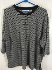 Carolina Colours Women's Plus Size 20 2X Striped partial button shirt x108