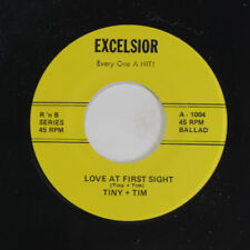 TINY + TIM / EDDIE WARE: Love At First Sight / Lima Beans 45 (re) Vocal Groups