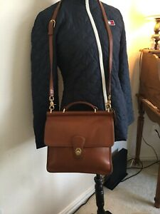 Authentic Vintage Coach Willis Crossbody Bag British Tan Solid Brass #9927