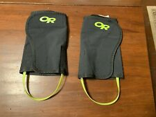 Women's OR Outdoor Research Wrapid Gaiters 61110 Small/Medium (S/M) Black/Yellow