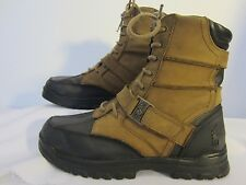 RALPH LAUREN POLO Saddle Tan LEATHER HOLDEN Lace-up Hiking Trail Boots EU 39.5