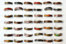 20Ps Wholesale lots polymer clay Leopard Silver Plated Alloy Rings 17-19mm FREE