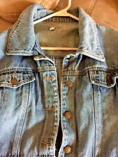 Vintage GCA COMPANY WOMENS Power Stone Washed DENIM JEANS COAT JACKET SIZE XL