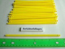 "Knex Building Toys: 25 Rare Regular Yellow 7.5"" Flexi Rods 7 1/2"" Flexible Flex"