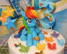 Rainbow Dash,Handmade,Edible,Birthday,Large Age,Christening,Cake Decoration
